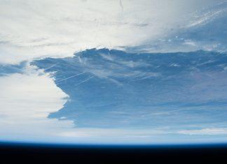Vista de Galicia desde a Estación Espacial. Fonte: Gateway to Astronaut Photography of Earth.
