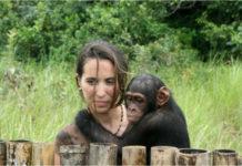 Rebeca Atencia está á fronte do santuario de chimpancés máis grande de África. Foto: Fundación Jane Goodall.