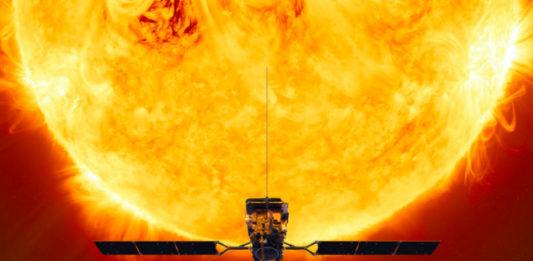 A Solar Orbiter ofrecerá datos e unha perspectiva descoñecida ata agora do Sol. Ilustración: Axencia Espacial Europea.