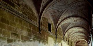 O patrón que segue o verdello no claustro chamou a atención dos investigadores. Foto cedida por Patricia Sanmartín.