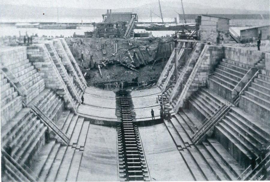 Vista do Dique da Campá, cuxa construción foi dirixida por Comerma, no ano 1897. Foto: JM Sánchez.