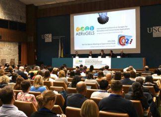 O acto inaugural do Congreso Internacional de Aeroxeles estivo presidido polo vicerreitor de Investigación e Innovación, Vicente Pérez Muñuzuri. Foto: Santi Alvite.