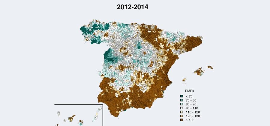 Mortalidade por Alzheimer 2012-2014. Fonte: ANDEES.
