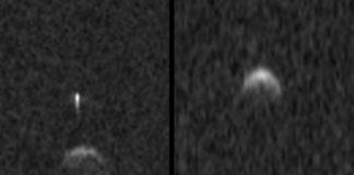 Imaxes do asteroide 2020BX12 tomadas os días 4 e 5 de febreiro. Fonte: Observatorio de Arecibo.