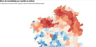 O Atlas de Mortalidade sitúa a varios municipios de Galicia á cabeza no risco de suicidio e morte por accidentes de tráfico.