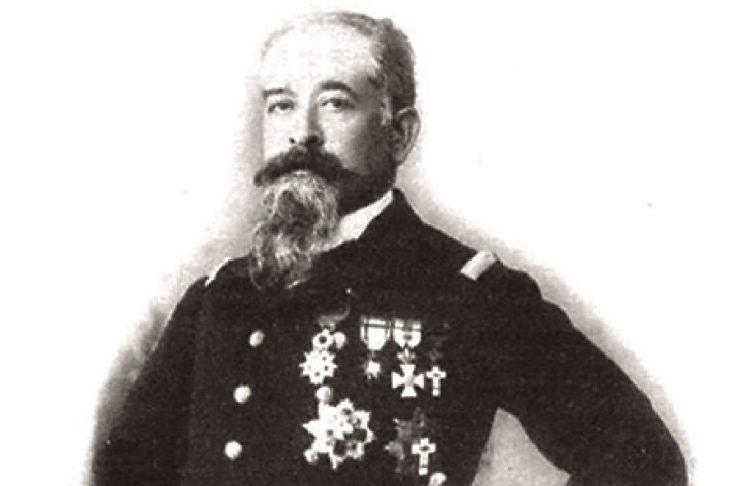 """Andrés Comerma, nunha imaxe de """"El Mundo Naval Ilustrado"""", en 1897."""