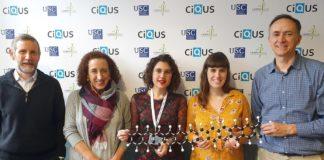 Investigadores do CiQUS que participaron na investigación sobre o dodecaceno. Fonte: CiQUS.