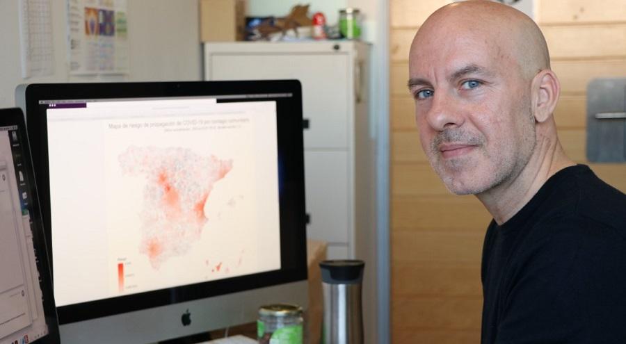 Alex Arenas, investigador do grupo de investigación Alephsys Lab da URV. Foto: urv.cat.