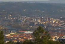 Vista da cidade de Ourense na mañá do luns. Foto: Meteogalicia.