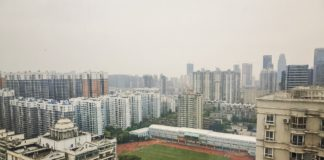 Panorama da cidade de Wuhan, onde se produciron os primeiros contaxios do coronavirus SARS-CoV-2.