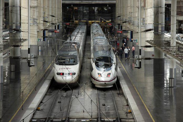 Estación de alta velocidade en Madrid.