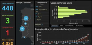 Datos da situación en Portugal na mañá do martes. Fonte: Direção Geral da Saúde Pública