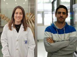 """Paula Rodríguez e Cristian Vidal, recoñecidos nos premios """"Talento Mozo"""". Foto: USC."""