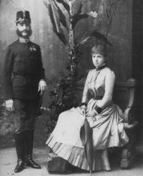 Alfonso XII e María Cristina de Habsburgo.
