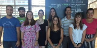 Grupo de investigación que dirixe o científico Rubén Nogueiras (terceiro pola dereita). Foto: CiMUS.