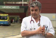 Manuel José Vázquez Lima, membro da Comisión de xestión da crise sanitaria, no vídeo difundido esta tarde pola Xunta no que se cuestionaba a utilidade clínica dos tests rápidos enviados polo Ministerio. Fonte: xunta.gal.