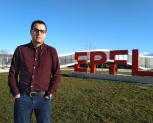 Teijeiro, no campus da EFPL.