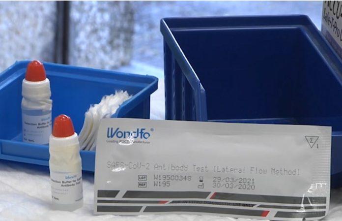 Tests rápidos usados no estudo da Xunta, da marca Wondfo, achegados ás comunidades autónomas polo Goberno central. Foto: xunta.gal.