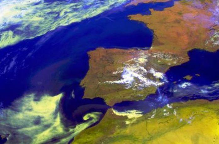 A chegada de aire africano afectará ao oeste da península ibérica. Foto: meteogalicia.gal