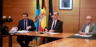 Jorge Aboal, Jesús Vázquez e Xurxo Hervada, na comparecencia deste mércores. Foto: xunta.gal.