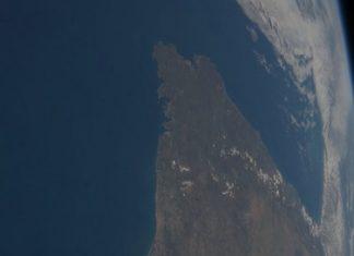 Imaxe do noroeste da península ibérica tomada desde a Estación Espacial en 2013. Imaxe: NASA.