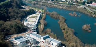 Vista aérea da depuradora de Ourense. Fonte: acuaes.com.