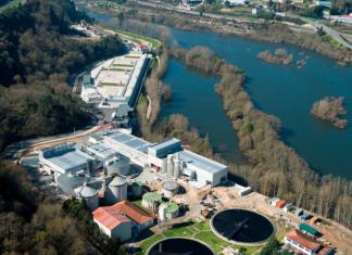 Vista da depuradora de Ourense, onde se realizou a análise. Fonte: acuaes.com.
