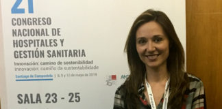Patricia Rey durante o 21 Congreso Nacional de Hospitais, no Pazo de Congresos de Santiago de Compostela.