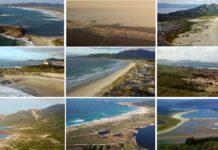 Algunhas das paisaxes das praias galegas que recolle o vídeo de Xeoclip.