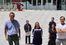 Equipo do CNIC que publicou o artigo en PNAS. A científica lucense Cintia Folgueira é a segunda pola dereita. Foto: CNIC.