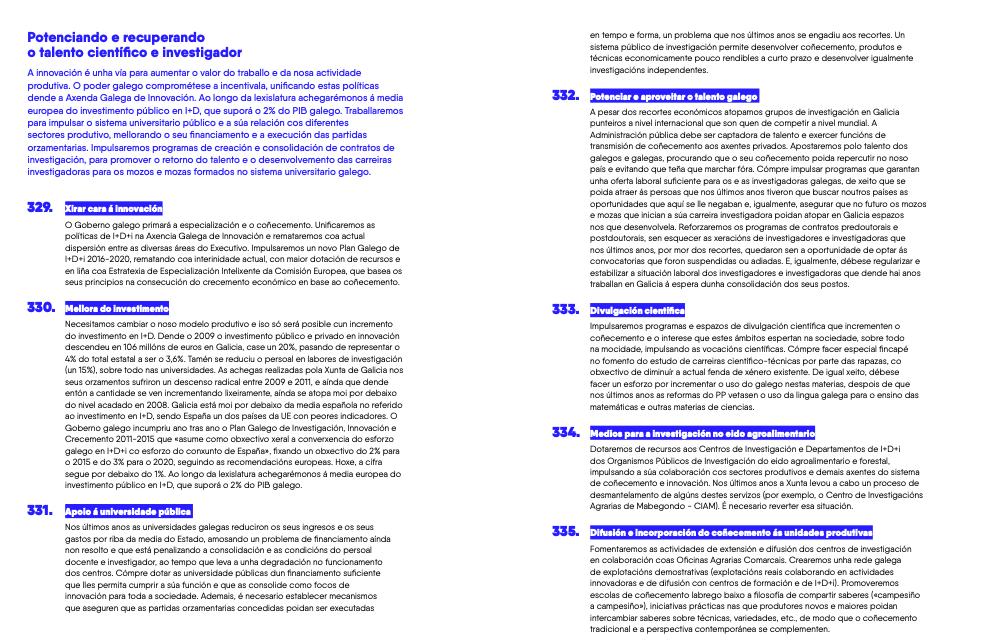 Propostas de En Marea para as eleccións de 2016, que se repiten nos programas de 2020.