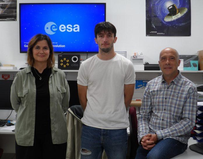 Minia Manteiga, Raúl Santoveña e Carlos Dafonte, que participaron no achado. Foto: CITIC.