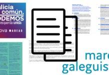 Os programas e En Marea en 2016 e os de Galicia en Común e Marea Galeguista en 2020 comparten numerosos parágrafos de forma literal.