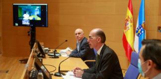 Comparecencia do conselleiro de Sanidade, xunto a responsables do Sergas e Saúde Pública, para anunciar o levantamento de restricións na Mariña, agás Burela.