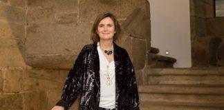 Minia Manteiga, no acto no que ingresou na Real Academia Galega de Ciencias. Foto: RAGC.