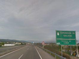 Entrada a Galicia desde Asturias na Ponte dos Santos, en Ribadeo, pola A-8. Foto: Google Street View.