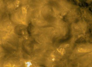 Detalle dunha das imaxes captadas pola Solar Orbiter. Fonte: ESA.