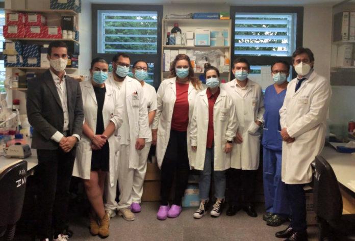 Grupo de colaboradores do proxecto sobre microbioma e cancro colorrectal do Inibic da Coruña. Foto cedida por Margarita Poza.