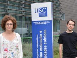 """Diana Guallar e Alejandro Fuentes, co autores do traballo publicado en """"Cell Stem Cell"""" e premiado pola RAGC. Foto: C. Barros."""
