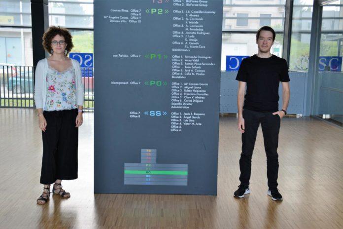 Diana Guallar e Alejandro Fuentes, autores do artigo premiado pola RAGC. Foto: CiMUS.