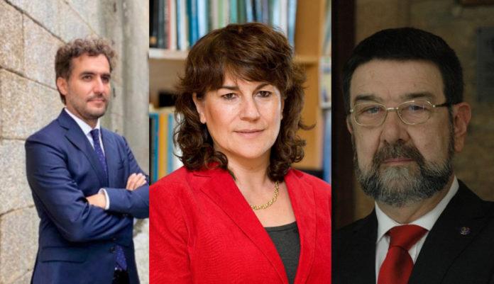 Alberto García Basteiro, Beatriz González e Juan Gestal, tres dos asinantes da carta publicada polo grupo