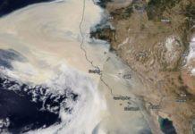 Imaxe de satélite do 10 de setembro captada polo instrumento Terra da NASA.