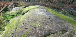 Imaxe do petróglifo de Pedra Moura, en Coruxo. Foto cedida por Iago Pozo.