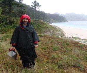 Guillermo, durante o traballo de campo.