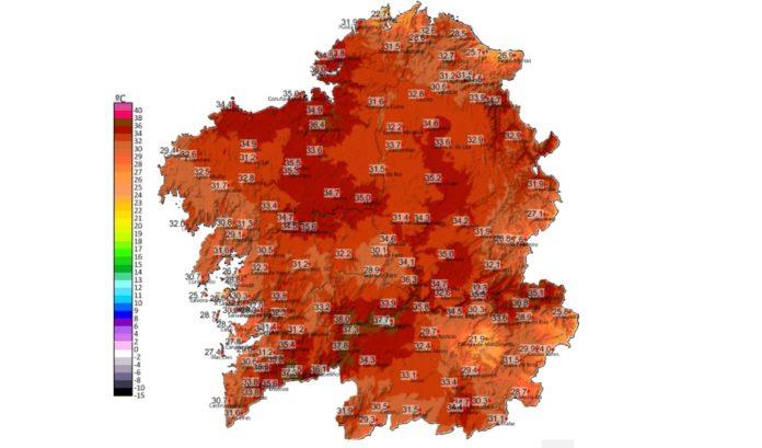 As temperaturas do domingo foron altas, especialmente en áreas como A Coruña.