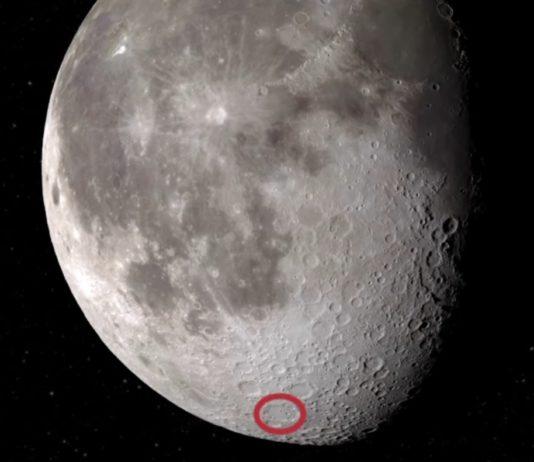 Situación do cráter Clavius na Lúa, onde se atopou a auga. Fonte: NASA.