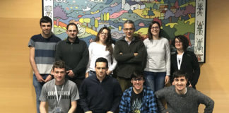 Foto de arquivo do grupo dirixido por Juan Granja no CiQUS. Foto: USC.