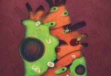 """Portada de """"Cell"""" coa ilustración sobre o traballo de José Ángel Nicolás Ávila. Créditos: Cell/Juan Manuel García."""