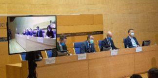 Comparecencia de representantes da Consellería de Sanidade celebrada este mércores. Foto: Xunta de Galicia.