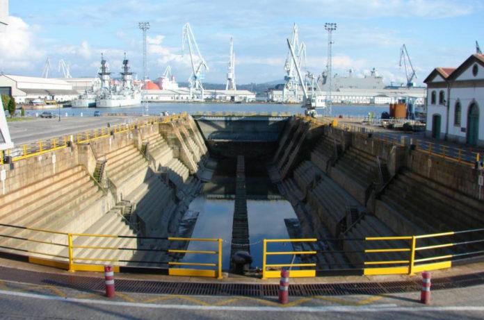 Dique da Campá de Ferrol, gran obra do enxeñeiro Comerma. Foto: armada.gob.